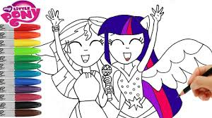 my little pony how to draw twilight sparkle and sunset shimmer