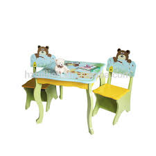 kids animal table and chairs wooden children safari animal study table and chairs children