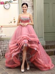 quincia era dresses a line strapless beadings high low quinceanera dress tbdress