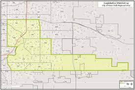 Sioux Falls Map District 14 Map District Maps Minnehaha Gop