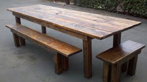 wooden table and bench great outdoor wooden tables and benches dining room bench dining