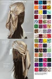 boho hair wraps hair scarf hair wrap headband wrap silk charmeuse bronze