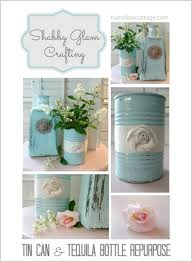 Fox Home Decor Glass Bottle And Tin Can Repurpose