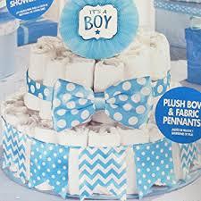 amazon com baby shower u0027baby boy u0027 deluxe diaper cake kit 4pc