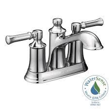moen dartmoor 4 in centerset 2 handle bathroom faucet in chrome