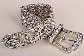 crystal buckle bracelet images Belt buckle stretch chain link bracelet women bling jewelry gifts jpg