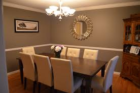 dining room color ideas with chair rail homey all dining room
