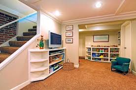 basement playroom flooring with white wall paint color home