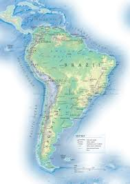 Latin America Map Countries by South America Detailed Topographical Map Detailed Topographical