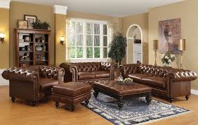 Tufted Leather Sofa Home Design By John - Leather chair living room