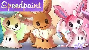speedpaint pokémon mimikyu eevee evolution youtube