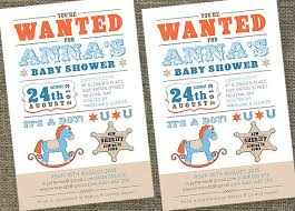 wanted poster baby shower invitations printable by sladestudios