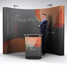 3x4 curved portable exhibition popup stand only 499