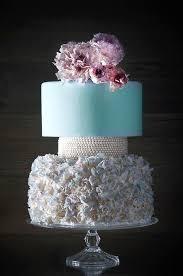 wedding cake m s blue wedding ruffles pearls wedding cake 2070413