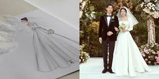 wedding dress song see the of song hye kyo s dreamy wedding dress