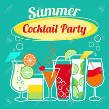 holiday cocktails clipart summer cocktails party banner invitation flyer royalty free
