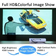 full hd laser 3d smart projector home 4500 lumens led video