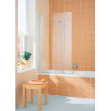 kermi cada hinged bath screen straight baker and soars