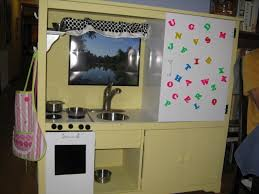 Play Kitchen From Old Furniture by How You Can Hack A Tv Console And Make A Play Kitchen Offbeat