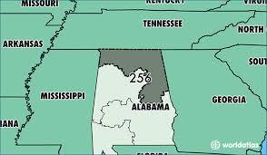 area code for alabama usa where is area code 256 map of area code 256 huntsville al