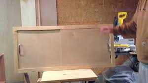how to build a wood cabinet with doors how to make a sliding cabinet faceplate and door youtube