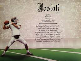 first name meaning art print josiah name football