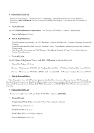 resume for the position of dy manager qs planning engineer
