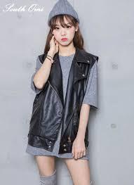 leather motorcycle vest aliexpress com buy women long leather vest pu soft vest ladies