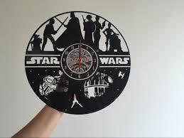 Star Wars Office Decor by Amazon Com Star Wars Vinyl Record Clock Home Design Room Art