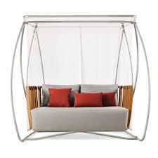 ethimo swing porch swing natural teak houseology
