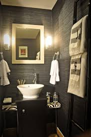 Elegant Powder Rooms Unique Lighting Above Simple Watch On Wood Table For Unusual