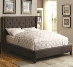 grey tufted king bed wingback lovely grey tufted king bed size