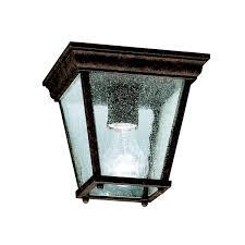 Outdoor Ceiling Lights - kichler 9859tz one light outdoor ceiling mount ceiling porch