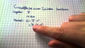 fläche zylinder berechnen grundfläche eines zylinders berechnen grundfläche eines