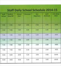 Staffing Schedule Template Excel Sle Printable Daily Schedule Template 17 Free Documents In