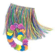 amazon com child lei u0026 grass skirt hula set childrens costumes