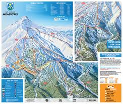 Mt Washington Map by Mt Hood Meadows Trail Map