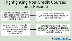 Resume Writing Course 3 Major Benefits To Highlighting Non Credit Course On A Resume