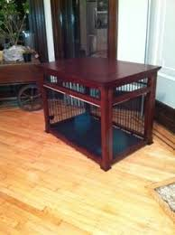 How To Build End Table Dog Crate by Dog Kennel Into Entertainment Stand Do It Yourself Home Projects