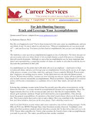 list of accomplishments for a resume resume for your job application