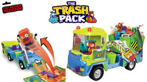 trash pack series toys junk truck playset toy video review
