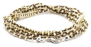 Handmade Seed Beaded Gold Plated Necklaces New Golden Age Crochet Gold U0026 Silver Plated