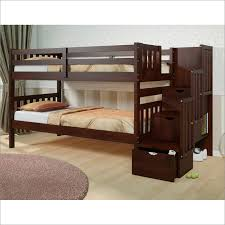 Mission Storage Step Bunk Bed In Dark Cappuccino By Donco CP - Donco bunk beds