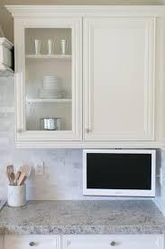 tv in kitchen ideas kitchen with lcd tv under cabinets kitchen tv tvs and kitchens