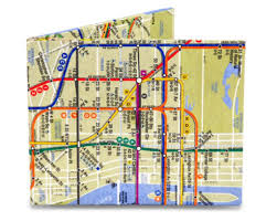 Map Paper Map Mighty Wallet Designs Paper Wallets Tyveko Underground L Nyc