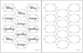 Printable Labels Tithing Savings Spending Jars Free Printable Labels Fab N