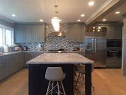 fairfax remodeled kitchen metro building remodeling group no gray kitchen with white stone island