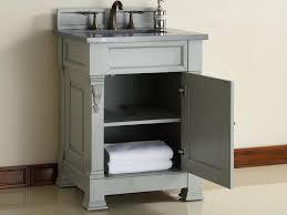 abstron 26 inch grey finish single sink bathroom vanity optional