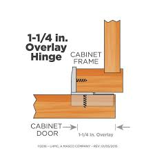 kitchen cabinet door hinges at home depot everbilt 35 mm 105 degree 1 1 4 in overlay cabinet hinge 5