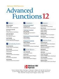 mcgraw hill advanced functions 12